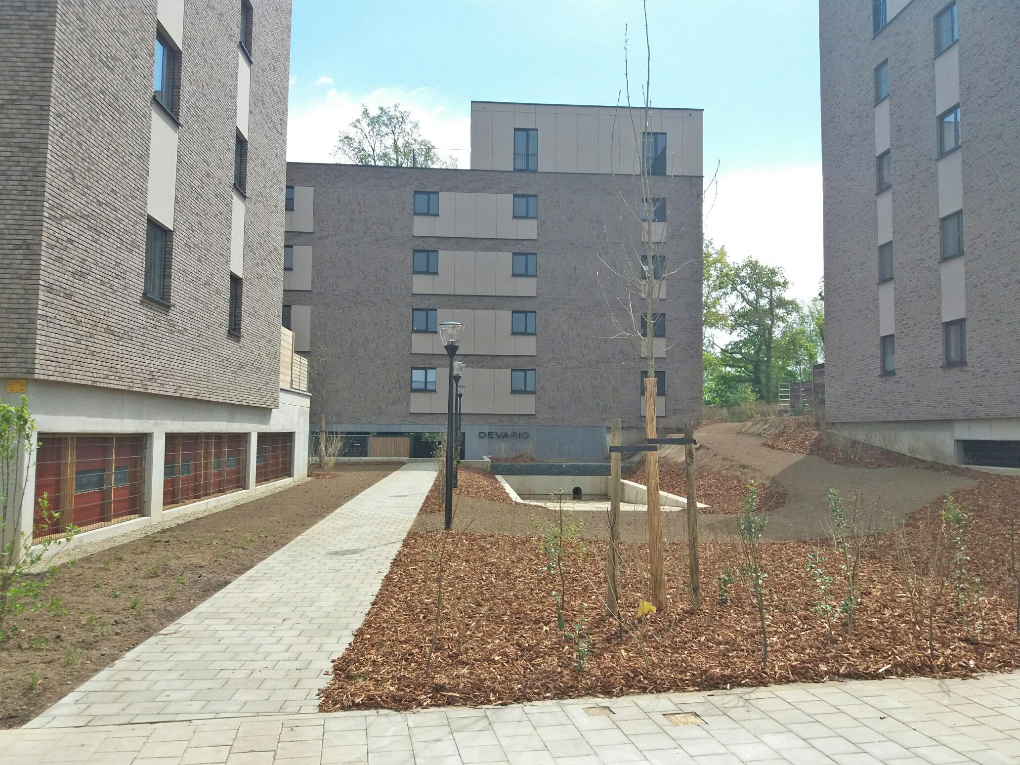 Buitenaanleg woonproject Alverpark Hasselt voltooid