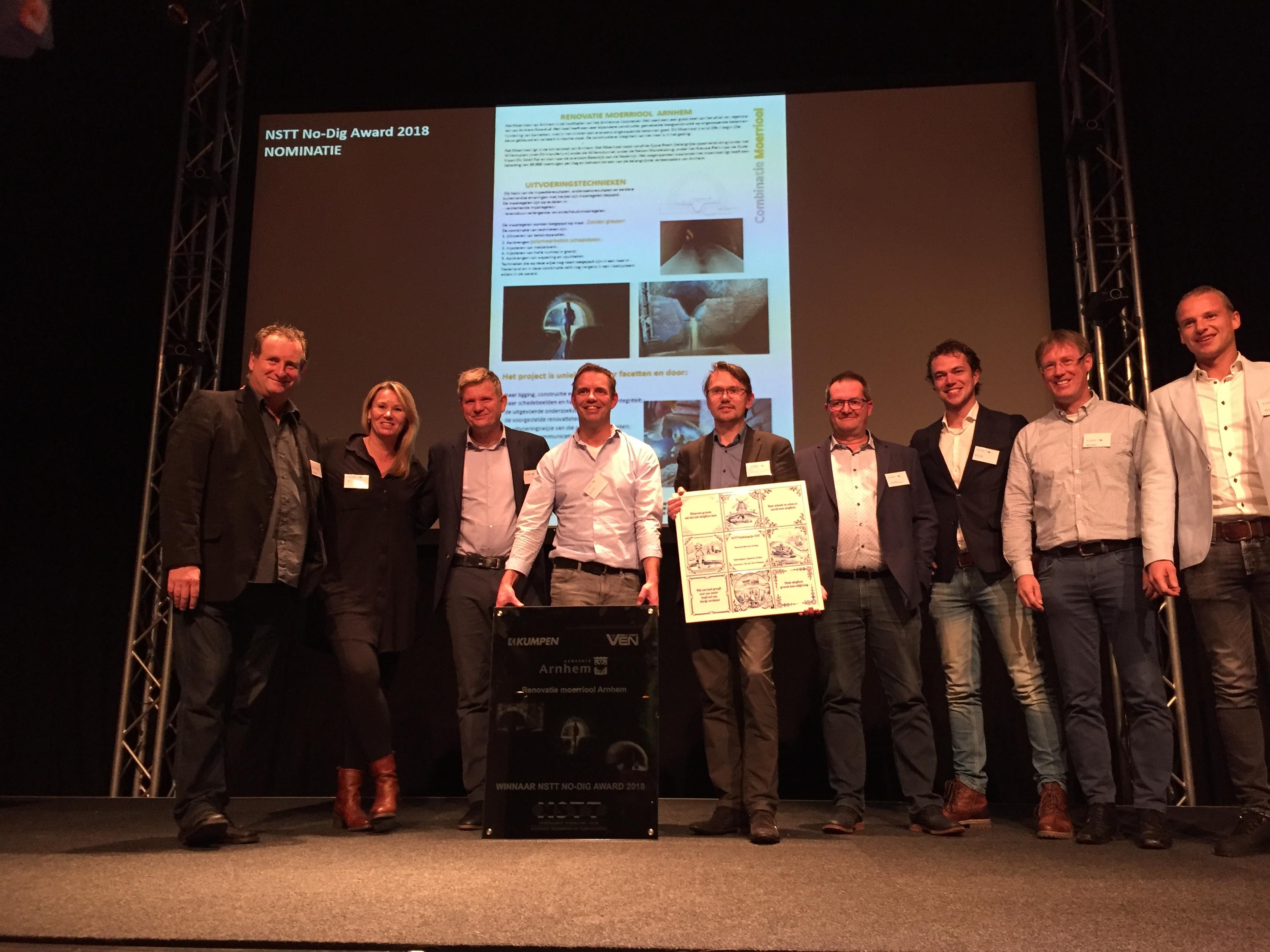 Rioolrenovatieproject moerriool in Arnhem (NL) wint No Dig Award