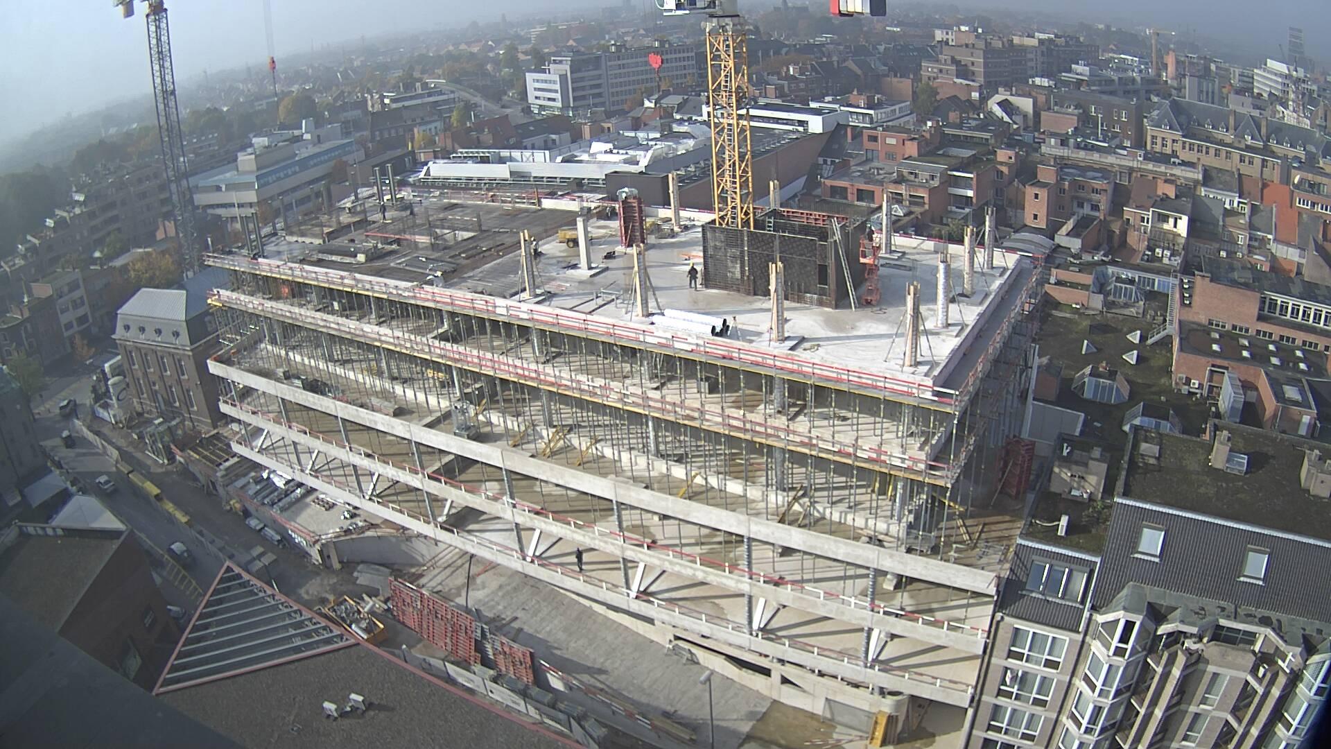 Vloerplaat 5de verdieping nieuw Stadskantoor in Hasselt klaar